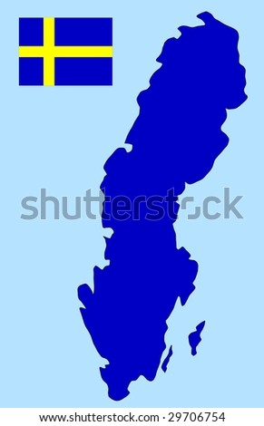 flag and map of Sweden