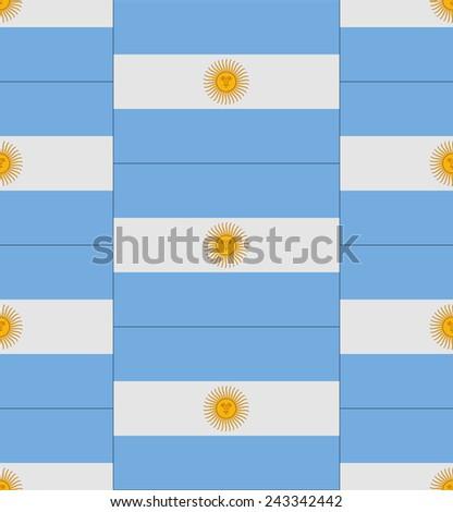 Flag Argentina texture vector illustration  - stock vector