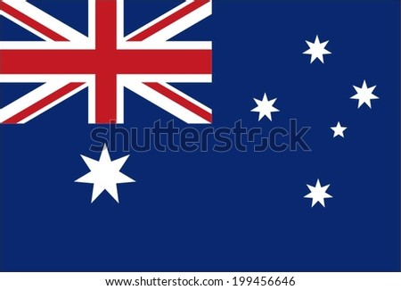 Flag Australia Original Vector - stock vector