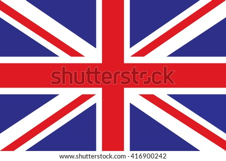 flag british .Flag United Kingdom  - stock vector
