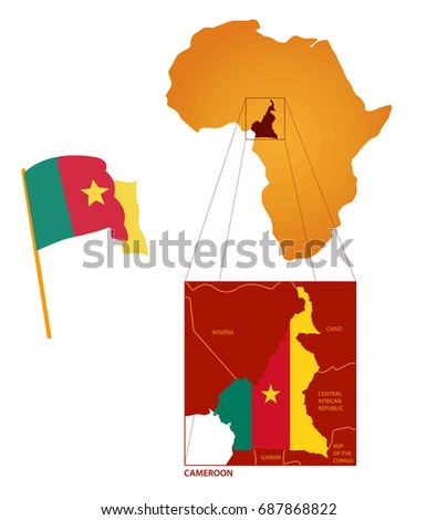 Flag cameroon map glob stock vector 687868822 shutterstock flag cameroon map glob ccuart Choice Image