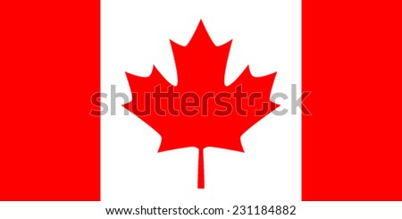 Flag: Canada - stock vector