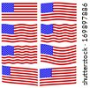 Flag collection of the United States of America - stock