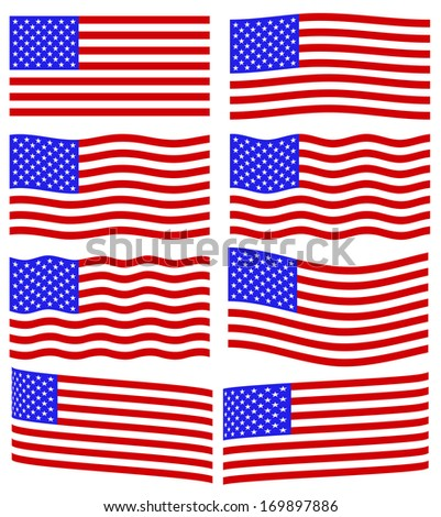 Flag collection of the United States of America - stock vector