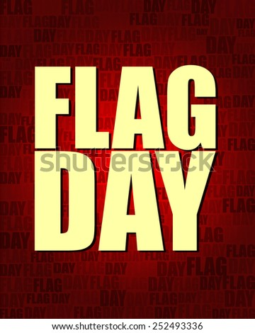 Flag Day with same text on red gradient background.