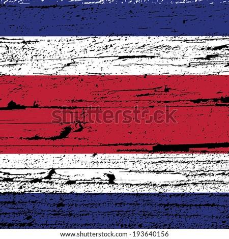 flag design wood texture - stock vector