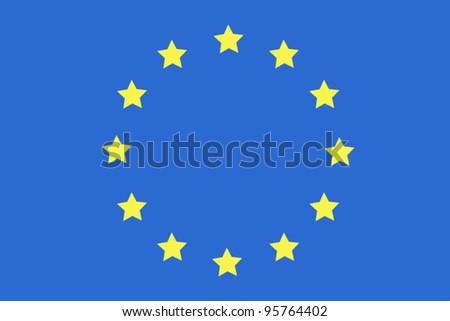 flag European Union - stock vector