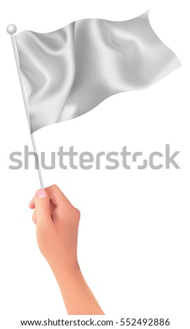 Flag hand person icon