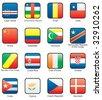 Flag icon set (part 3) Cape Verde, Central African Republic, Chad, Chile, China, Columbia, Congo, Costa Rica, Cote d`Ivoire, Croatia, Cuba, Cyprus, Czechia, Denmark, - stock vector