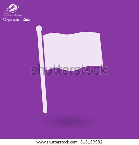 flag  icon. Vector  Eps 10