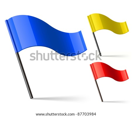 Flag Icons. Vector illustration - stock vector