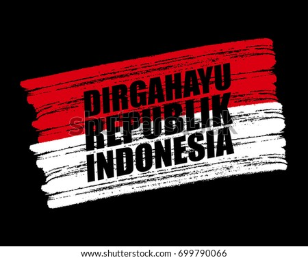 Flag. Indonesian independence day