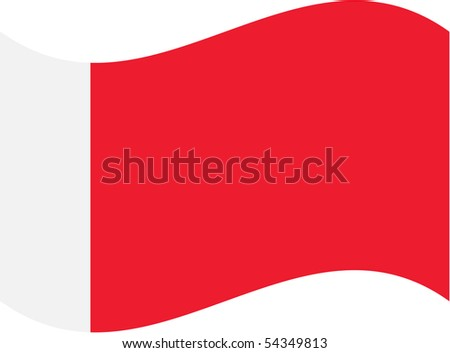 Flag isolated on white