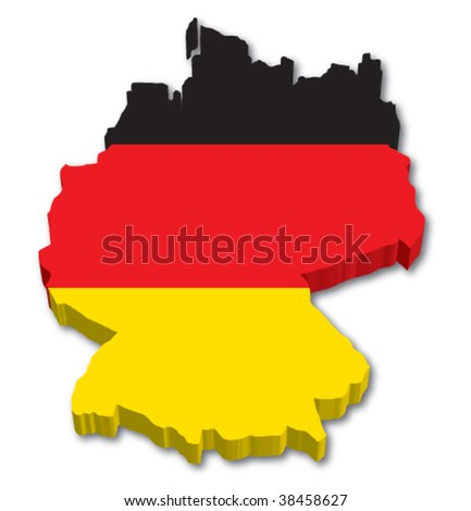 Flag Map of Germany