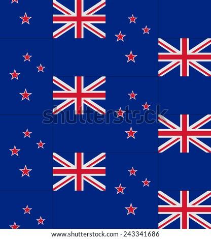Flag New Zealand texture vector illustration  - stock vector