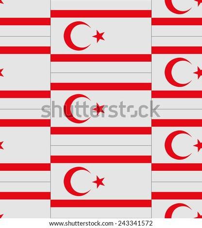 Flag Northern Cyprus texture vector illustration  - stock vector
