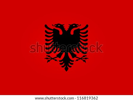Flag of Albania - stock vector