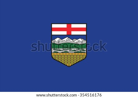Flag of Alberta Province or territory of Canada. Vector illustration. - stock vector