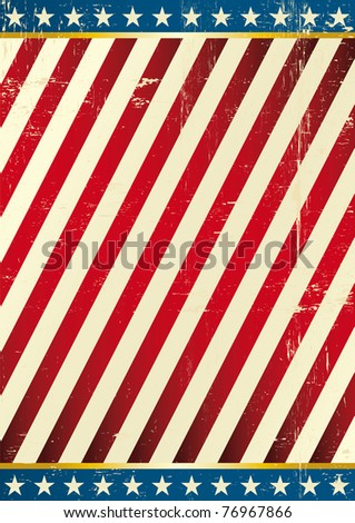 Flag of America . Dirty Background on US theme - stock vector