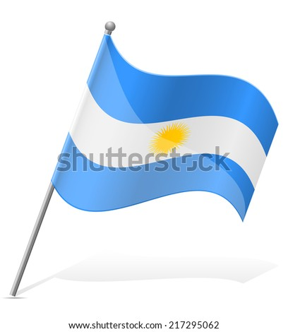 flag of Argentina vector illustration isolated on white background - stock vector