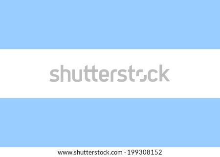 Flag of Argentina. Vector illustration. The size of the original. - stock vector