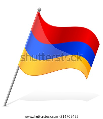 flag of Armenia vector illustration isolated on white background - stock vector