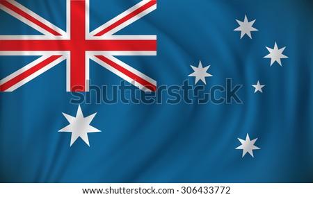 Flag of Australia - vector illustration - stock vector