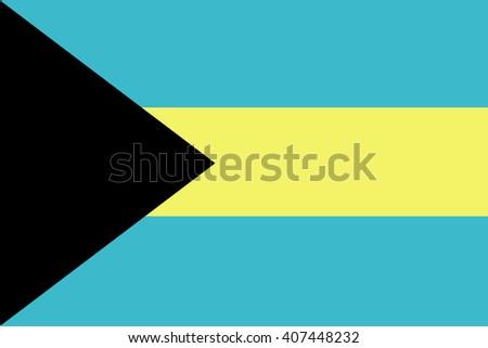 Flag of Bahamas - stock vector
