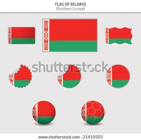 Flag of Belarus - stock vector