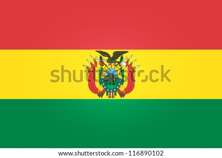 Flag of Bolivia - stock vector