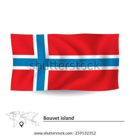 Flag of Bouvet Island - vector illustration - stock vector