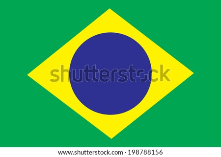 Flag of Brazil - stock vector