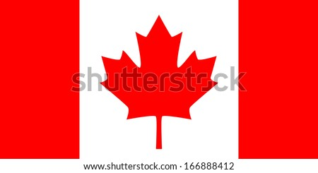 Flag of Canada. 'The Maple Leaf'. Vector. Accurate dimensions, element proportions and colors. - stock vector
