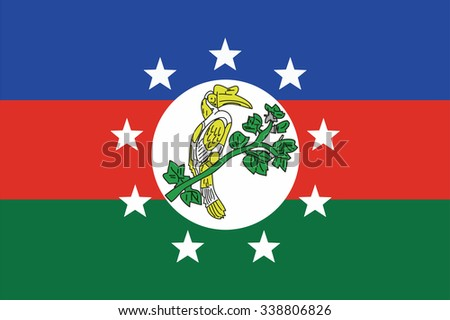 Flag of Chin Districts / Regions / States of Myanmar. Vector illustration. - stock vector