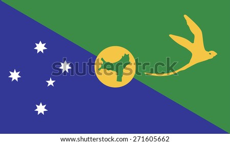 Flag of Christmas Islands  - stock vector