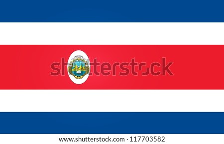 Flag of Costa Rica - stock vector