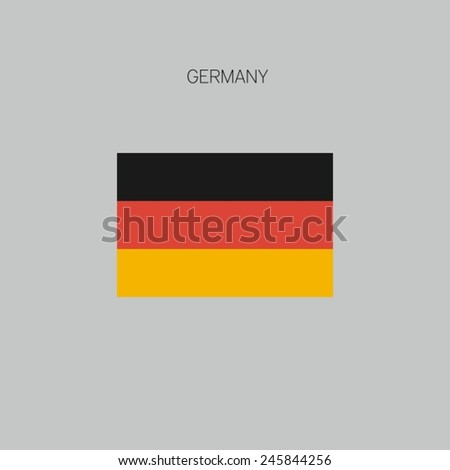Flag of country in flat design 2015 Germany - stock vector