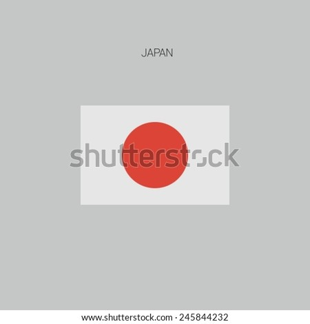 Flag of country in flat design 2015 Japan - stock vector