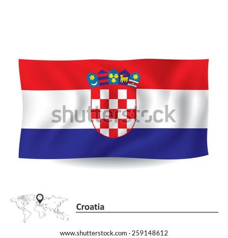 Flag of Croatia - vector illustration - stock vector