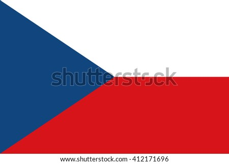 Flag of Czech Republic in correct proportions and colors - stock vector