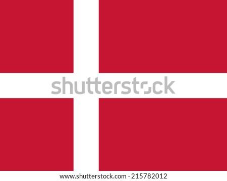 Flag of Denmark - stock vector