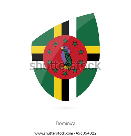 Flag of Dominica. Vector Illustration.