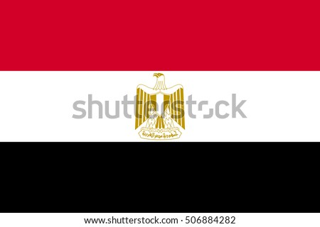 Flag Egypt Correct Size Proportions Colors Stock Vector 506884282