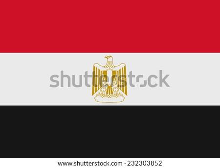 Flag of Egypt vector illustration - stock vector
