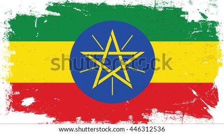 Flag of Ethiopia in the ancient.
