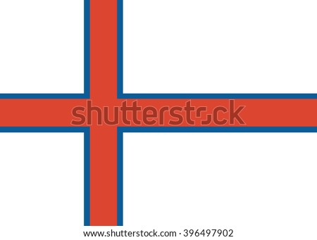Flag of Faroe Islands - isolated vector - stock vector