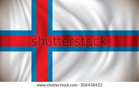 Flag of Faroe Islands - vector illustration - stock vector