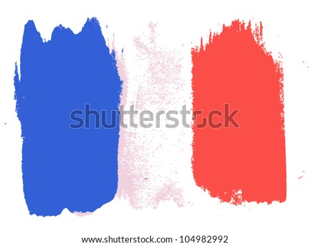Flag of France, vector illustration - stock vector