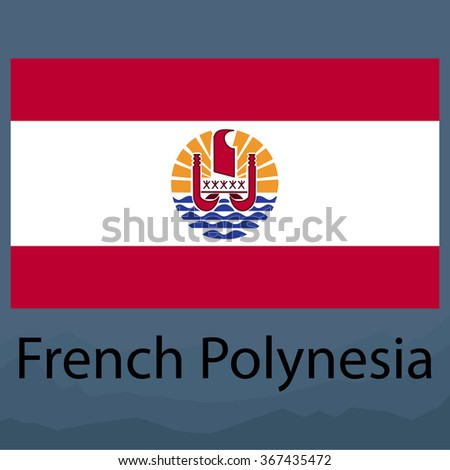 Flag of French Polynesia - stock vector