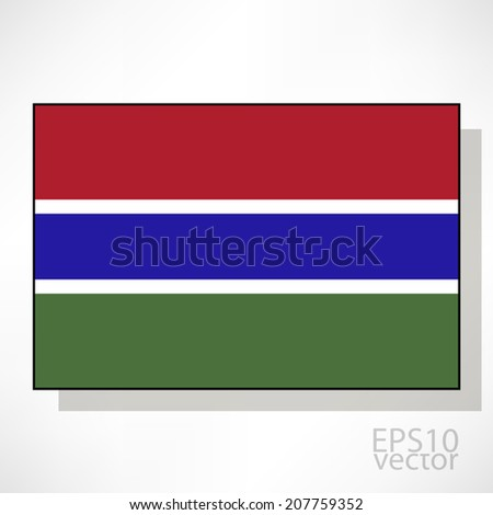 Flag of Gambia - stock vector